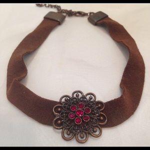Vintage Boho Leather Choker Necklace
